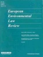 European Enviromental Law Review
