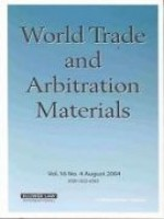 World Trade and Arbitration Materials